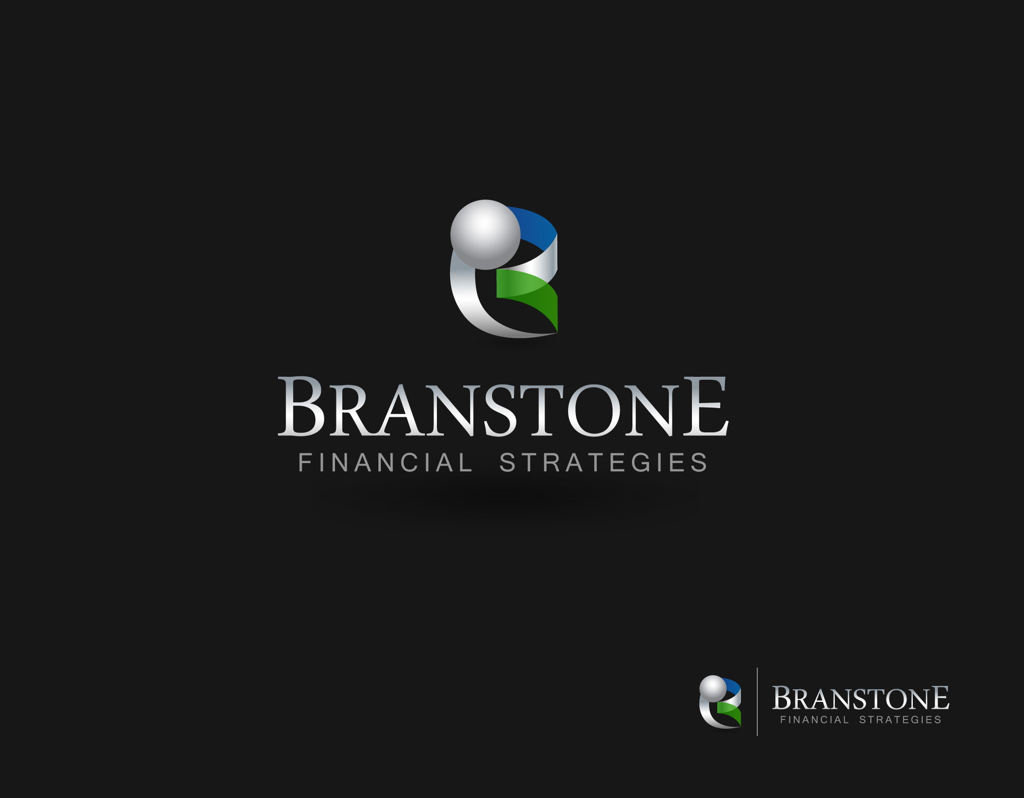 Logo Design by Mark Anthony Moreto Jordan - Entry No. 262 in the Logo Design Contest Inspiring Logo Design for Branstone Financial Strategies.