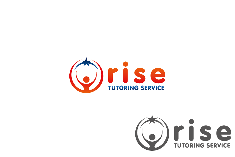 Logo Design by Private User - Entry No. 167 in the Logo Design Contest Imaginative Logo Design for Rise Tutoring Service.