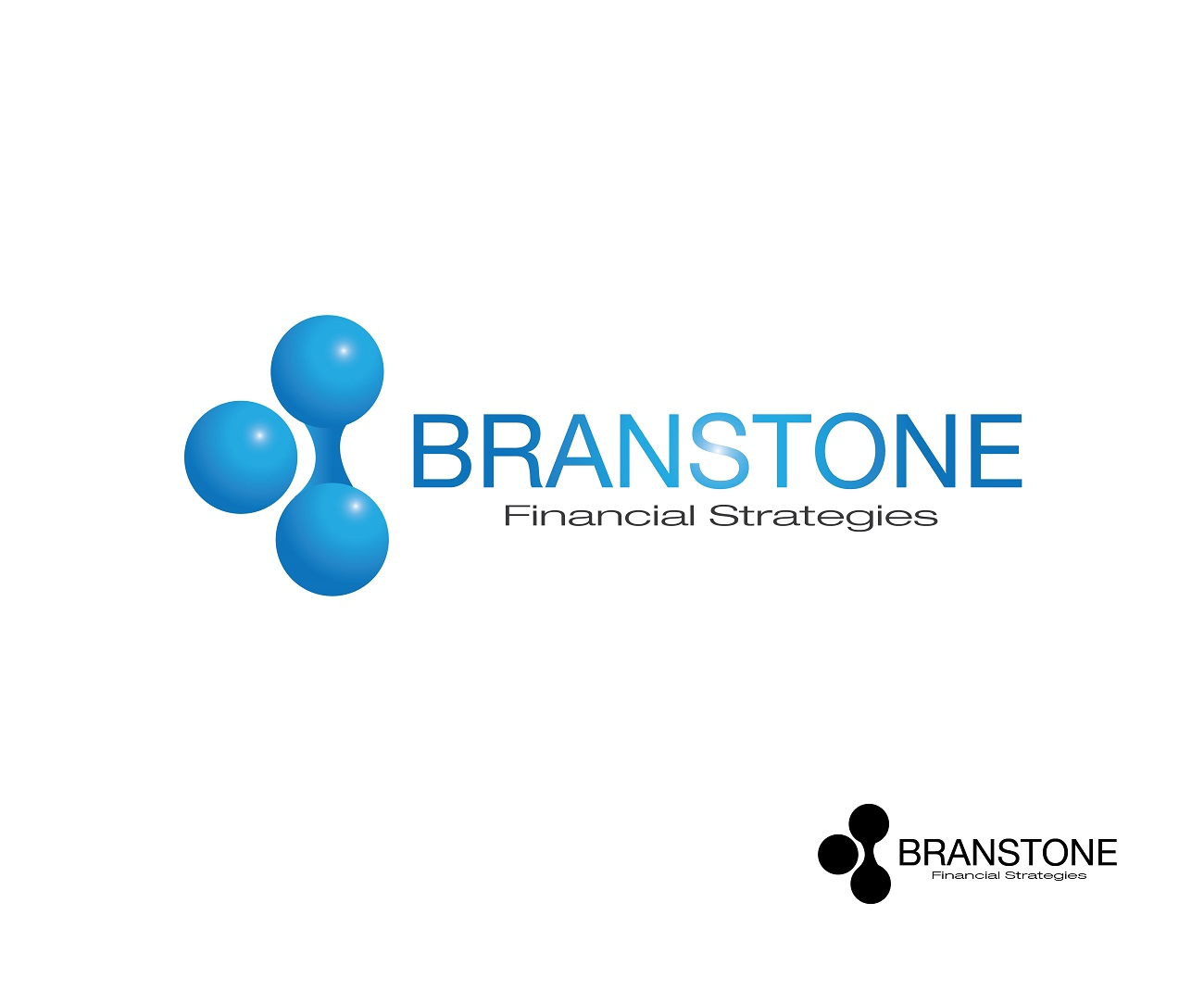 Logo Design by jhunzkie24 - Entry No. 270 in the Logo Design Contest Inspiring Logo Design for Branstone Financial Strategies.
