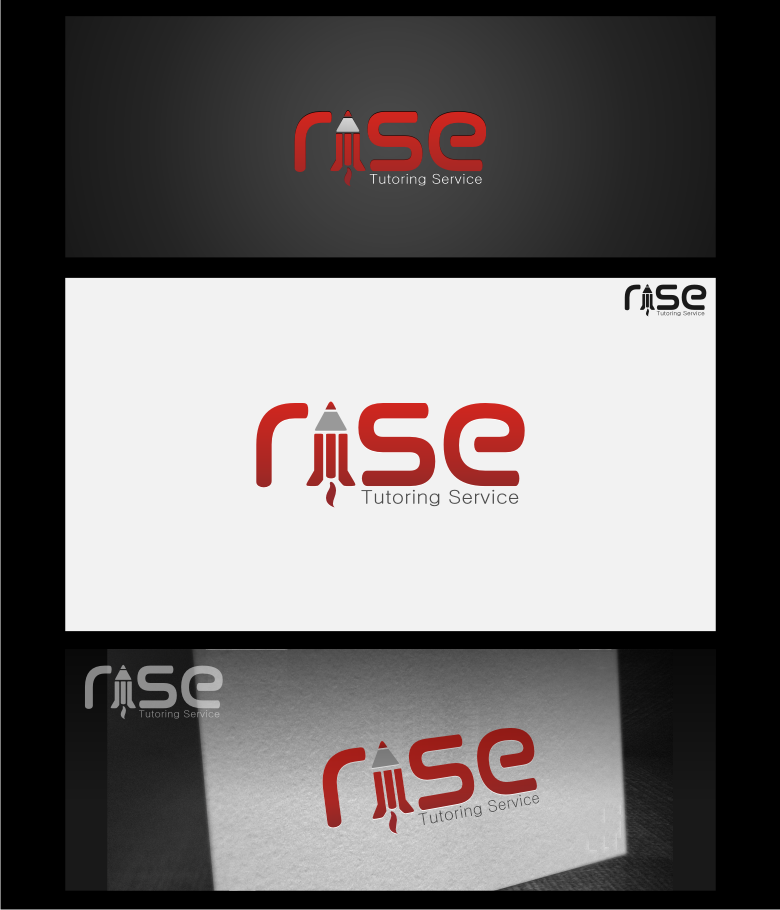 Logo Design by graphicleaf - Entry No. 194 in the Logo Design Contest Imaginative Logo Design for Rise Tutoring Service.