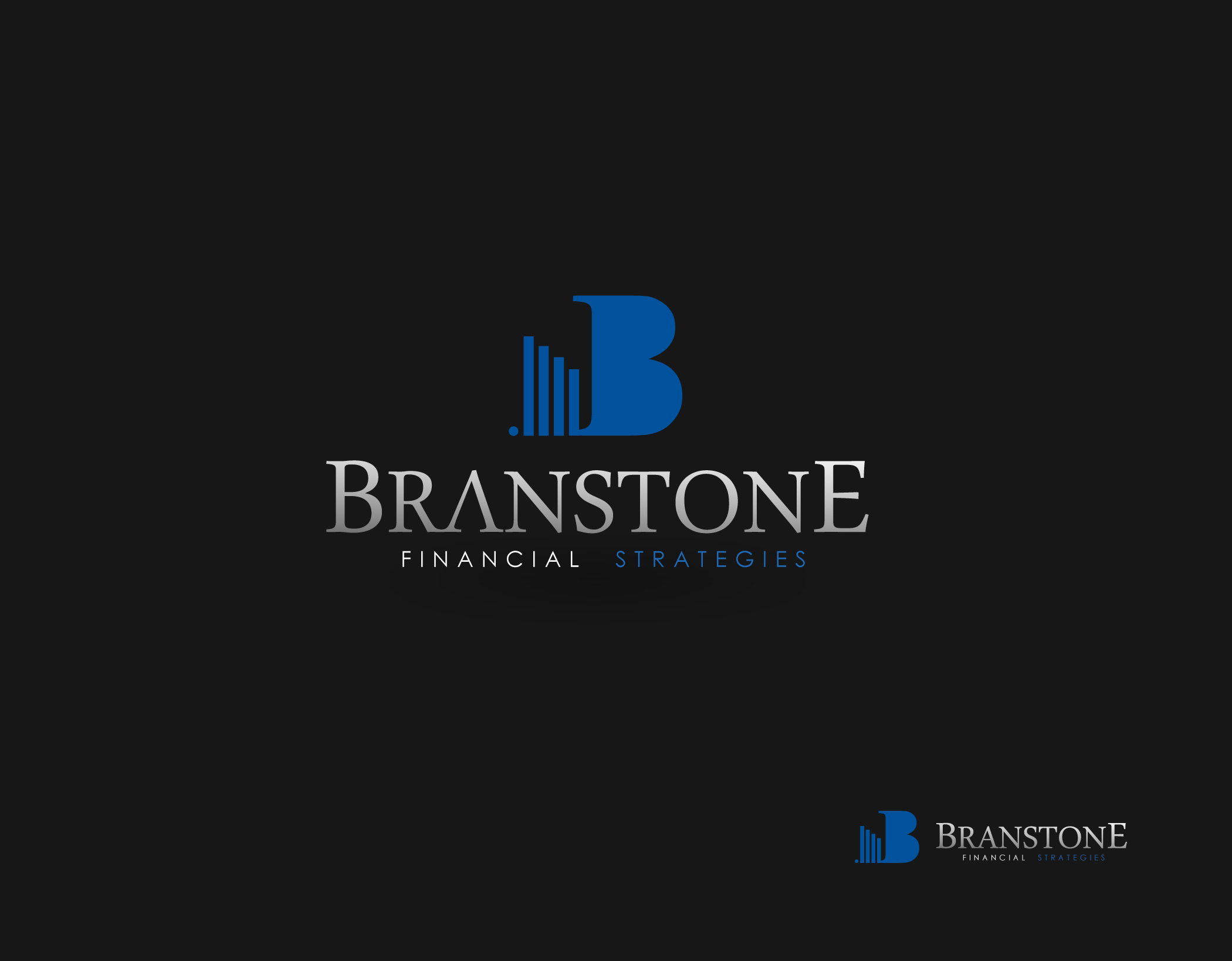 Logo Design by Mark Anthony Moreto Jordan - Entry No. 274 in the Logo Design Contest Inspiring Logo Design for Branstone Financial Strategies.