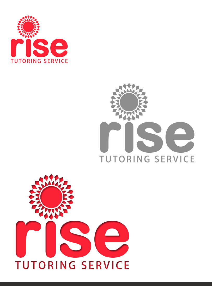Logo Design by Private User - Entry No. 207 in the Logo Design Contest Imaginative Logo Design for Rise Tutoring Service.