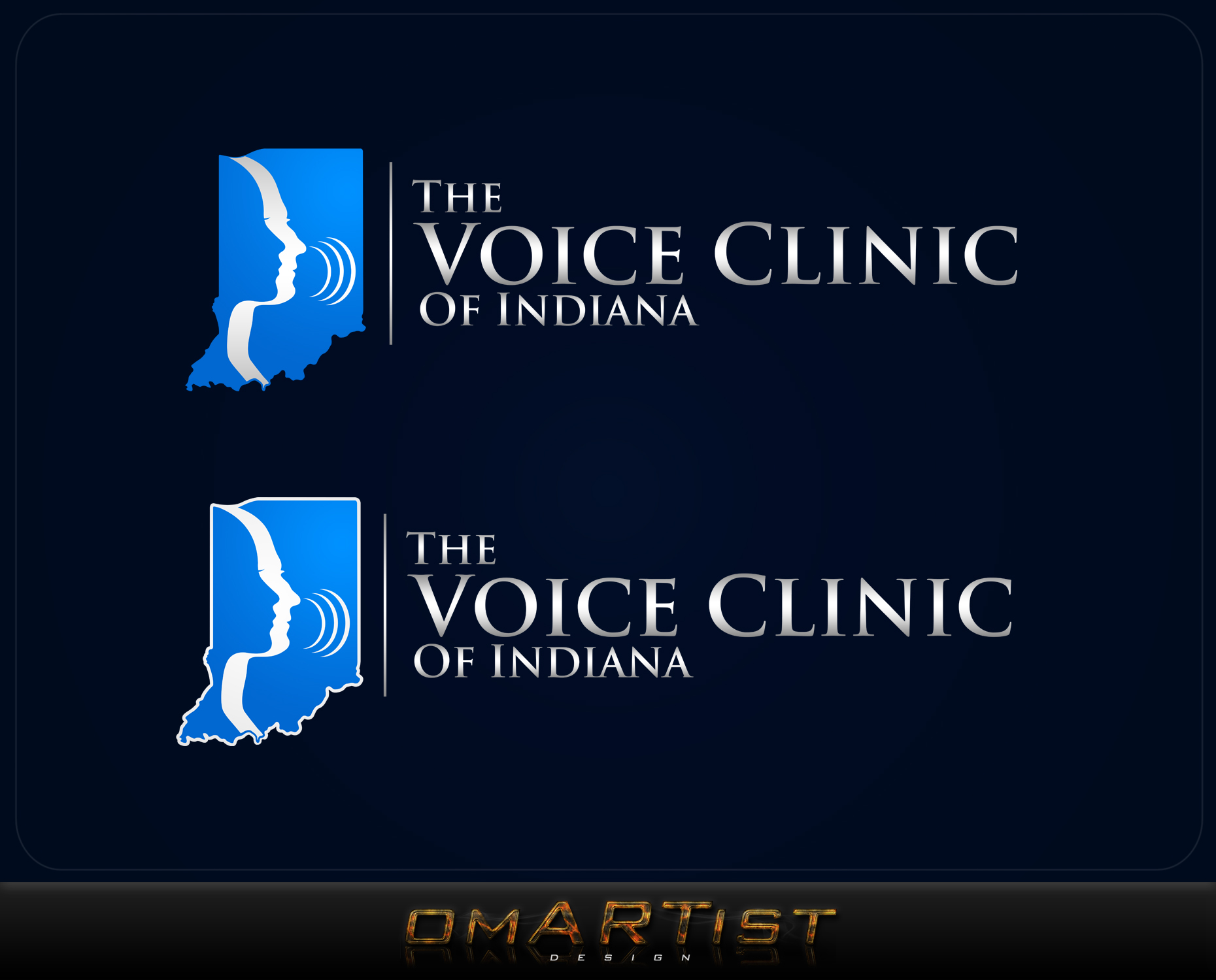 Logo Design by omARTist - Entry No. 38 in the Logo Design Contest Logo Design for The Voice Clinic of Indiana.