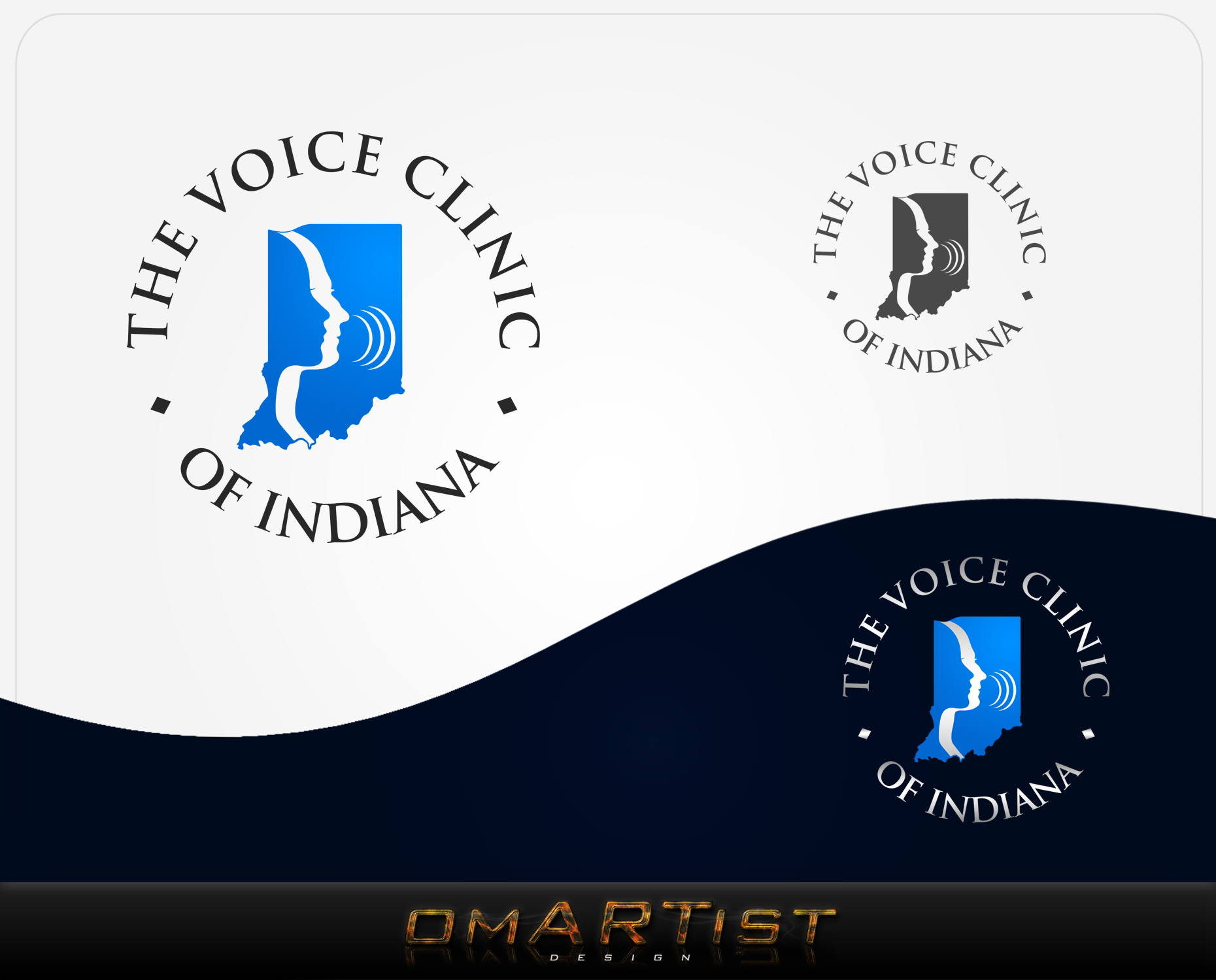 Logo Design by omARTist - Entry No. 39 in the Logo Design Contest Logo Design for The Voice Clinic of Indiana.