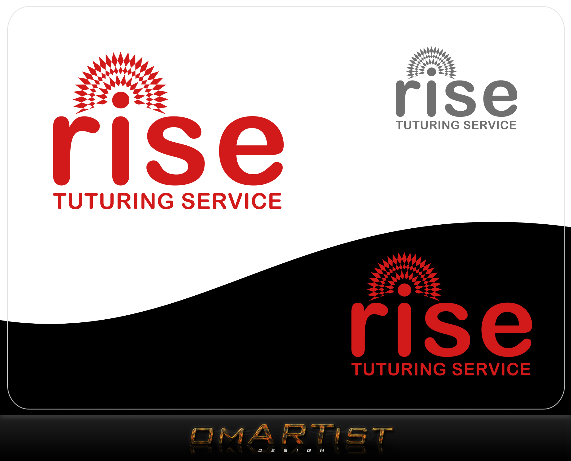 Logo Design by omARTist - Entry No. 226 in the Logo Design Contest Imaginative Logo Design for Rise Tutoring Service.