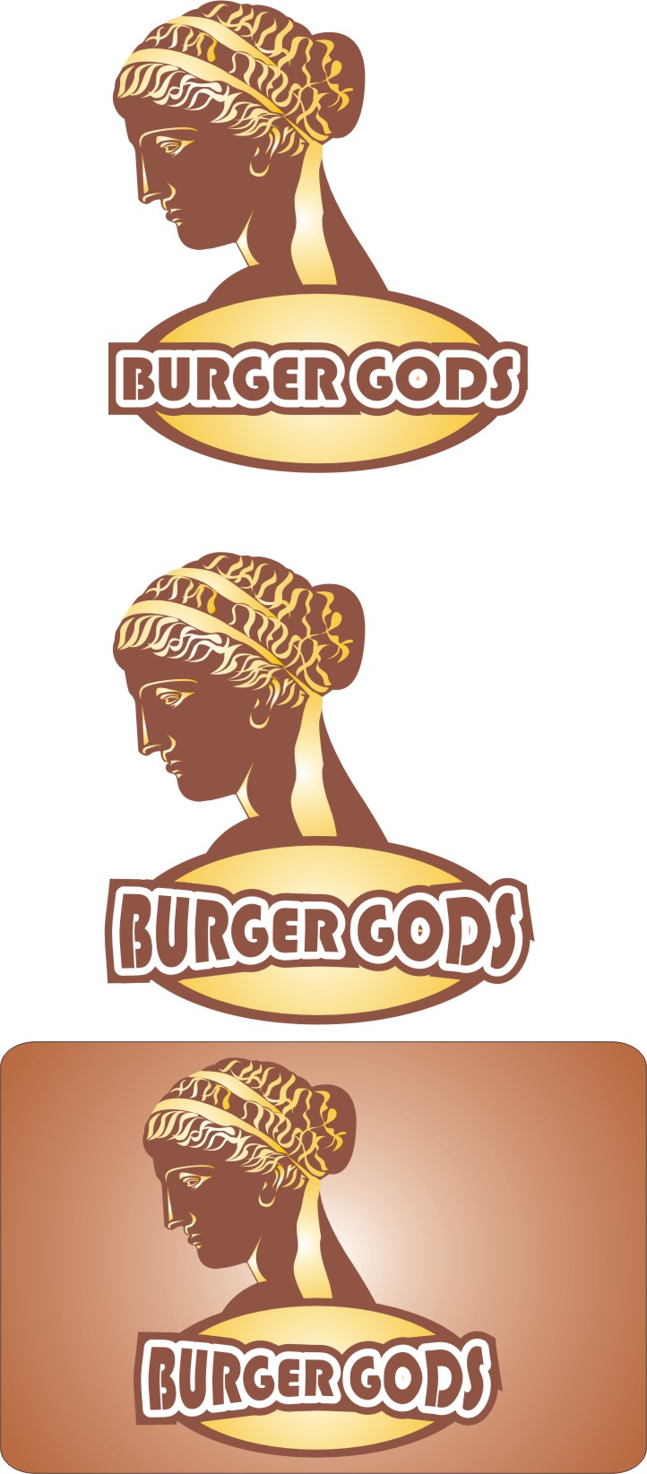 Logo Design by Korsunov Oleg - Entry No. 5 in the Logo Design Contest Inspiring Logo Design for Burger Gods.