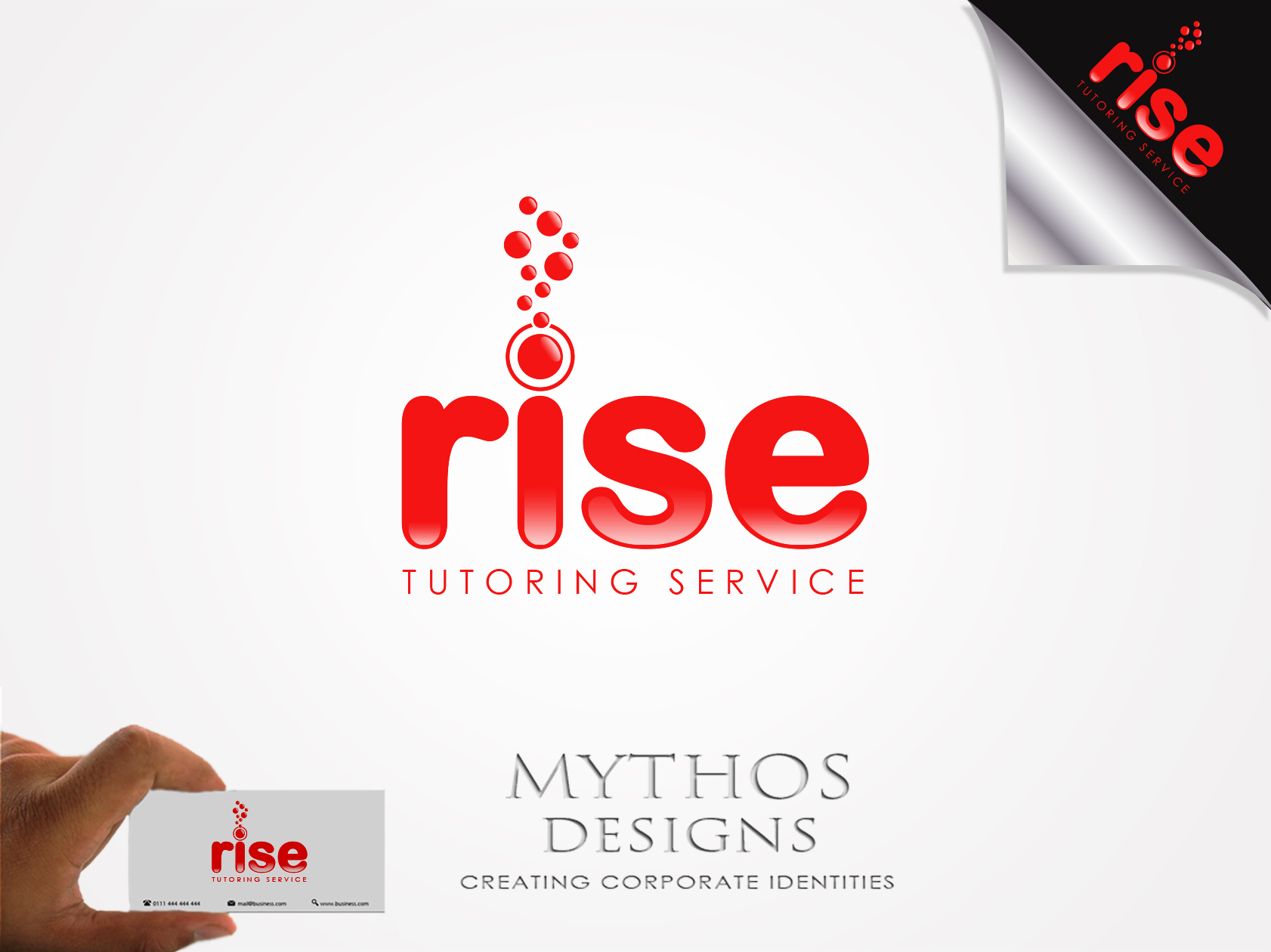 Logo Design by Mythos Designs - Entry No. 249 in the Logo Design Contest Imaginative Logo Design for Rise Tutoring Service.