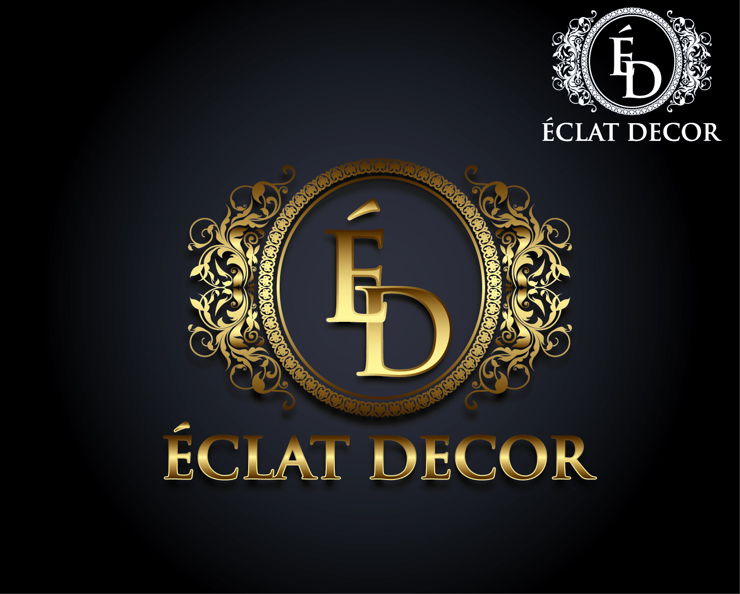 Logo Design by VENTSISLAV KOVACHEV - Entry No. 61 in the Logo Design Contest Imaginative Logo Design for Éclat Decor.