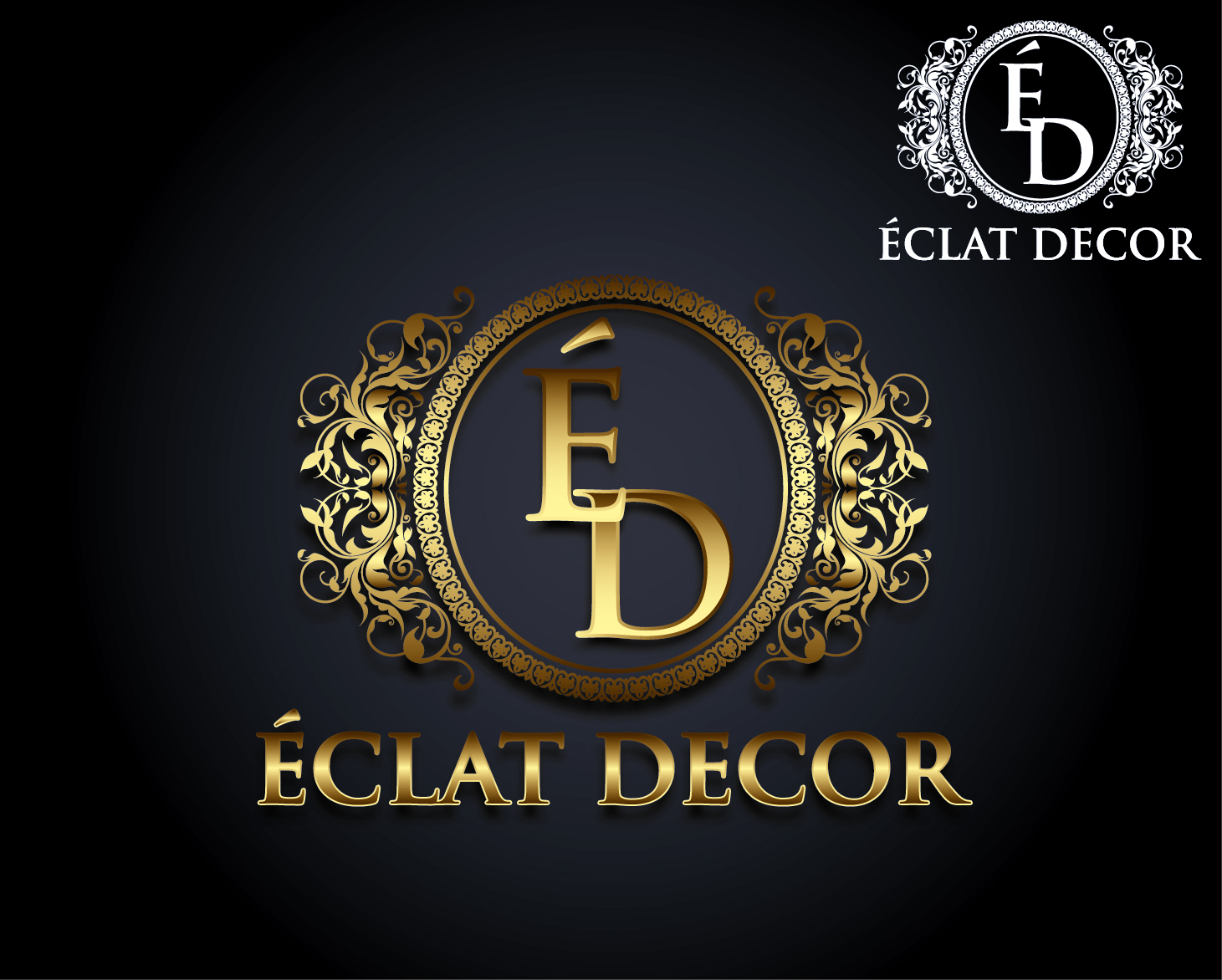 Logo Design by VENTSISLAV KOVACHEV - Entry No. 62 in the Logo Design Contest Imaginative Logo Design for Éclat Decor.