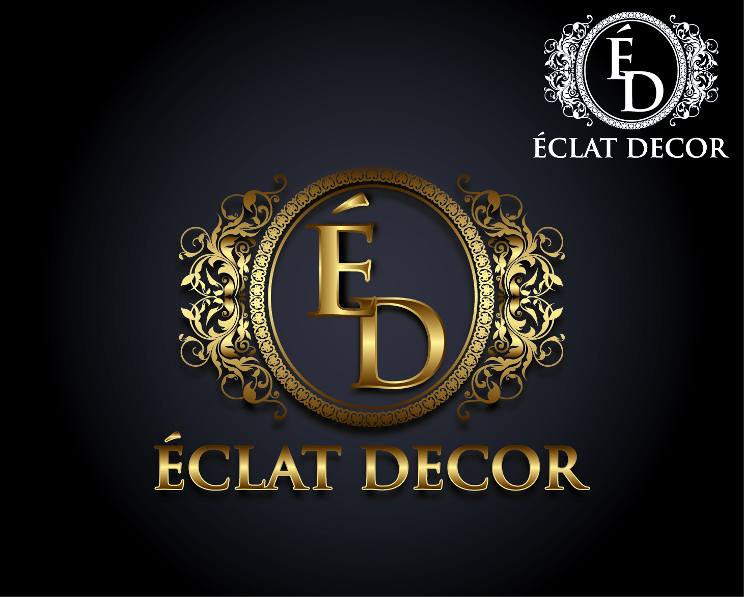 Logo Design by VENTSISLAV KOVACHEV - Entry No. 63 in the Logo Design Contest Imaginative Logo Design for Éclat Decor.