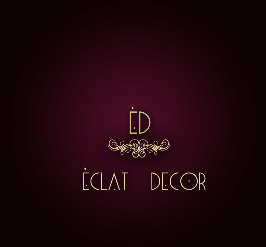 Logo Design by Azka Ik - Entry No. 65 in the Logo Design Contest Imaginative Logo Design for Éclat Decor.