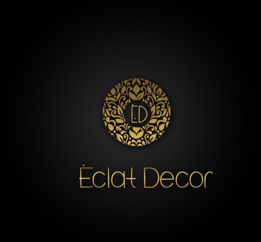 Logo Design by Azka Ik - Entry No. 66 in the Logo Design Contest Imaginative Logo Design for Éclat Decor.