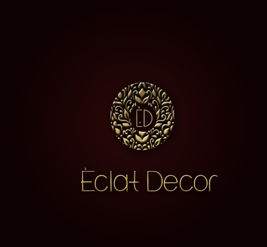 Logo Design by Azka Ik - Entry No. 67 in the Logo Design Contest Imaginative Logo Design for Éclat Decor.