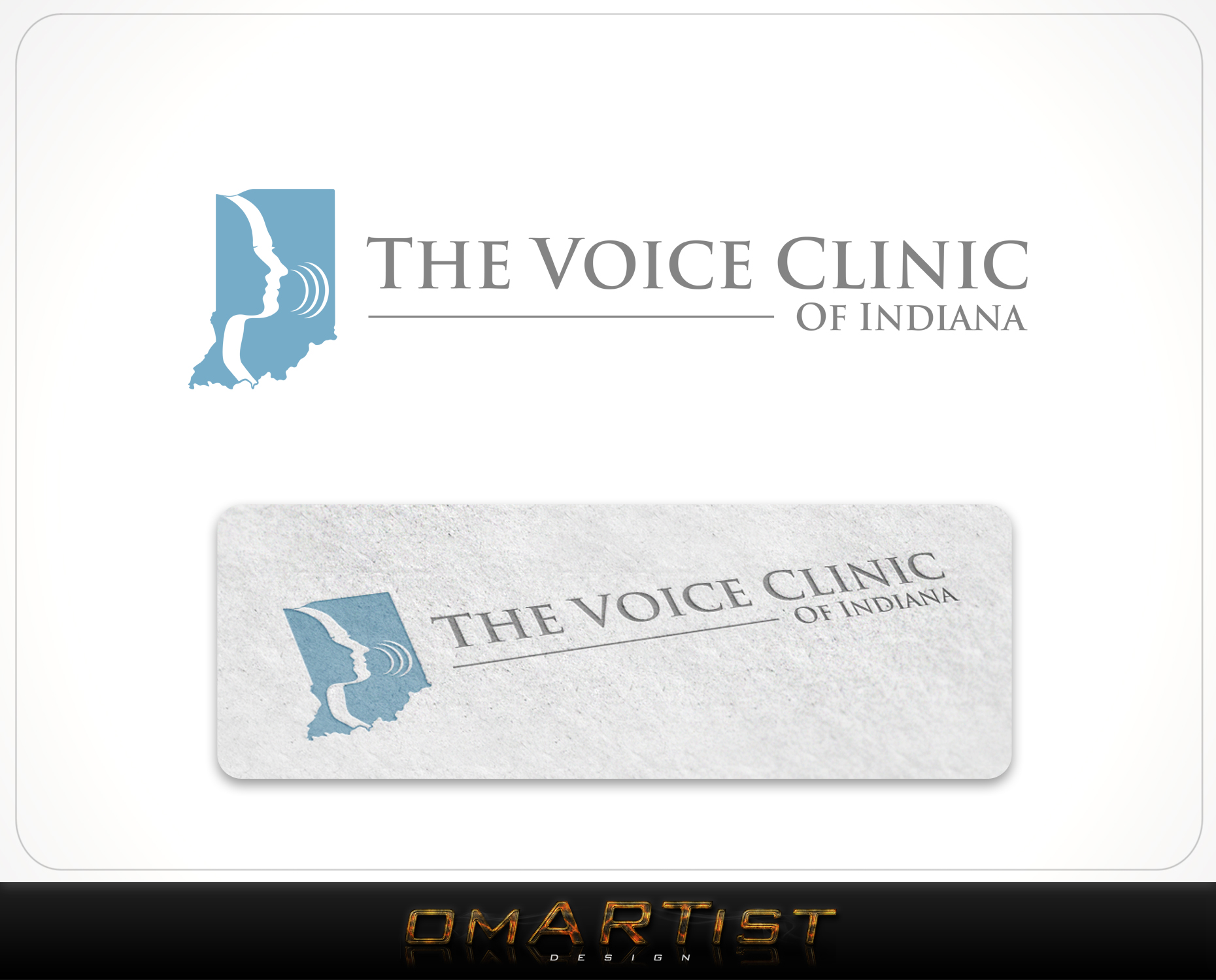 Logo Design by omARTist - Entry No. 46 in the Logo Design Contest Logo Design for The Voice Clinic of Indiana.