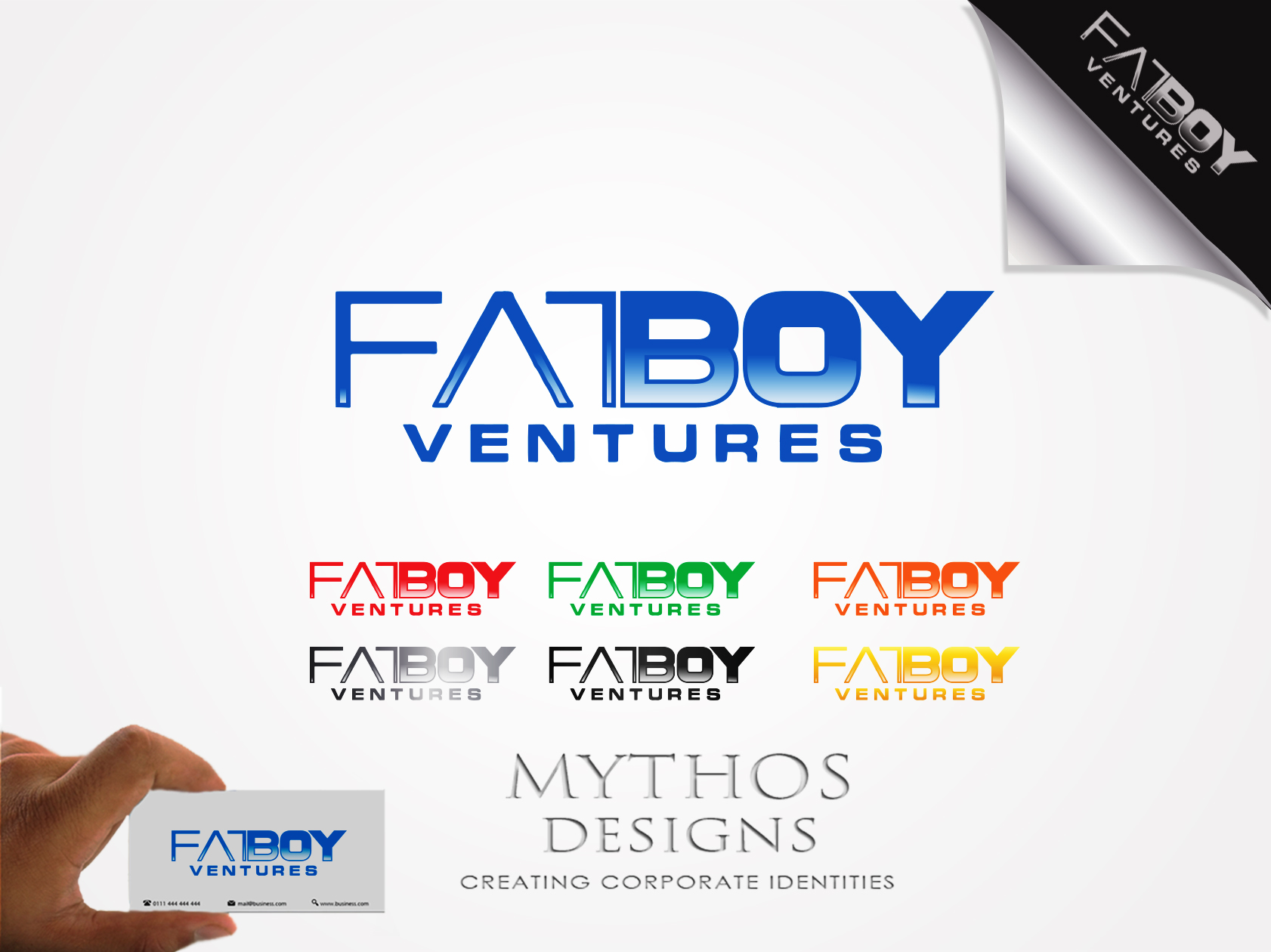 Logo Design by Mythos Designs - Entry No. 115 in the Logo Design Contest Fun Logo Design for Fat Boy Ventures.