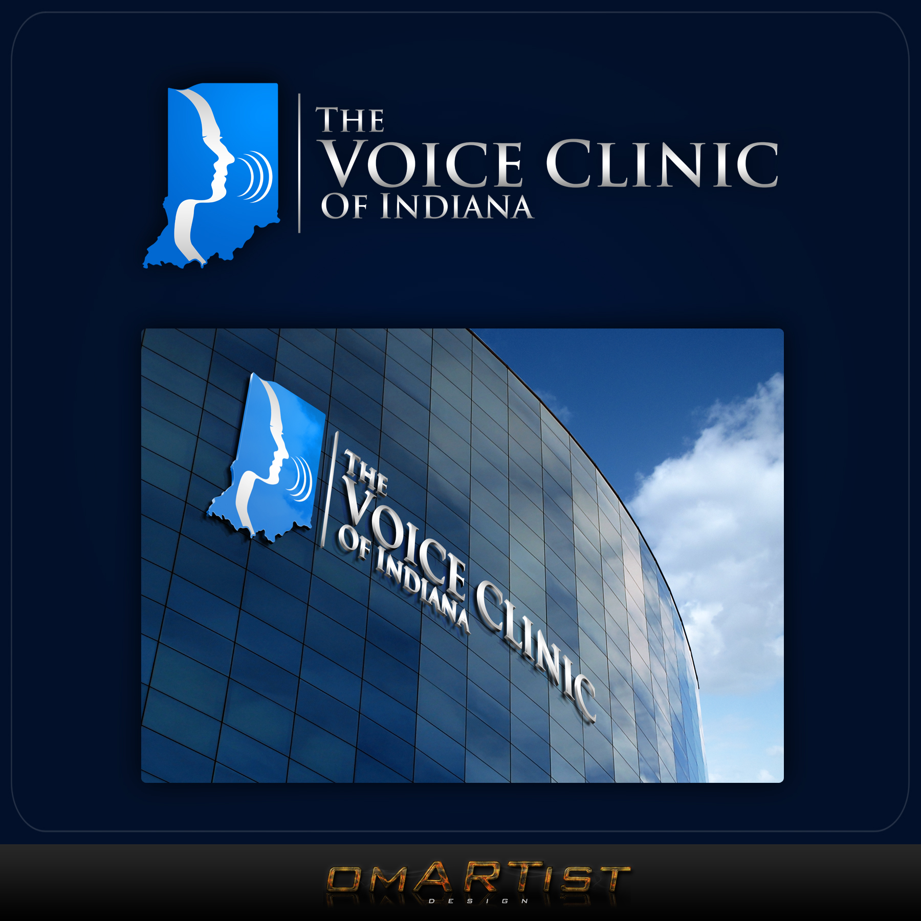 Logo Design by omARTist - Entry No. 47 in the Logo Design Contest Logo Design for The Voice Clinic of Indiana.