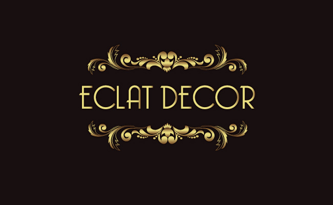 Logo Design by Private User - Entry No. 72 in the Logo Design Contest Imaginative Logo Design for Éclat Decor.
