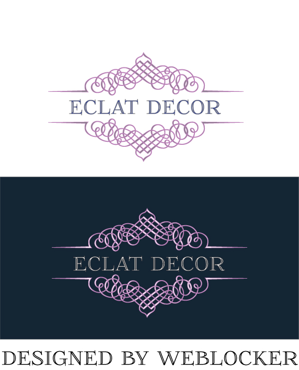 Logo Design by Private User - Entry No. 77 in the Logo Design Contest Imaginative Logo Design for Éclat Decor.