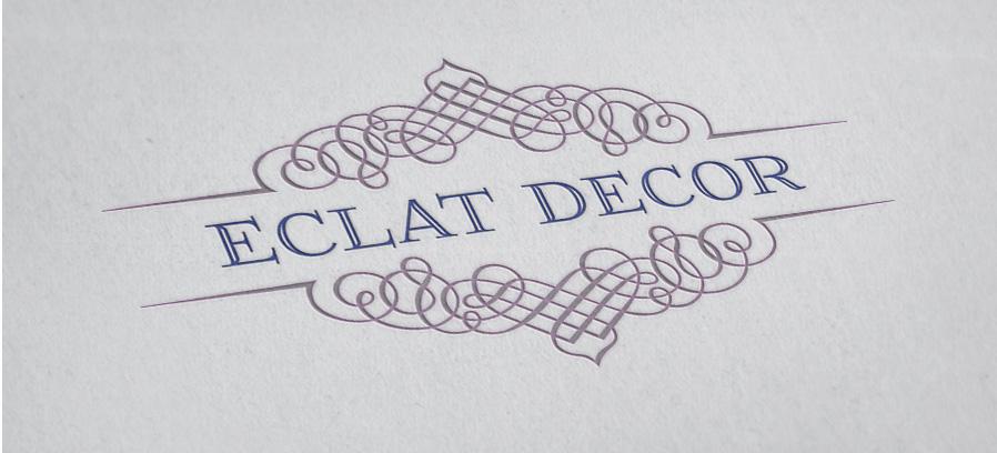 Logo Design by Private User - Entry No. 78 in the Logo Design Contest Imaginative Logo Design for Éclat Decor.