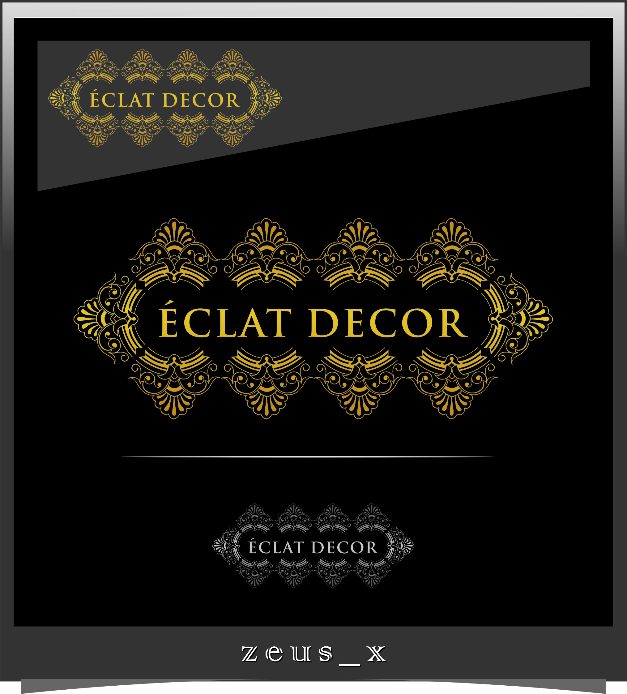 Logo Design by RasYa Muhammad Athaya - Entry No. 79 in the Logo Design Contest Imaginative Logo Design for Éclat Decor.