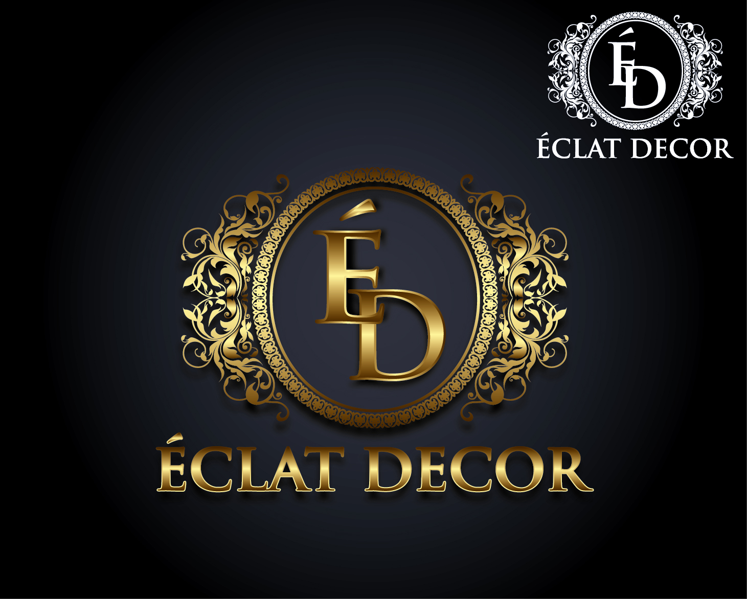 Logo Design by VENTSISLAV KOVACHEV - Entry No. 81 in the Logo Design Contest Imaginative Logo Design for Éclat Decor.