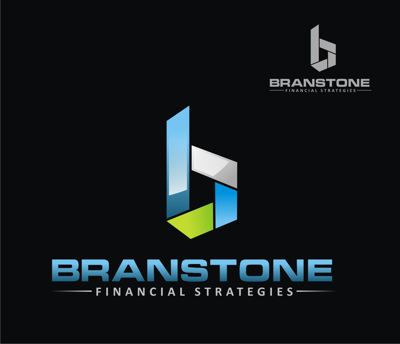 Logo Design by Reivan Ferdinan - Entry No. 299 in the Logo Design Contest Inspiring Logo Design for Branstone Financial Strategies.