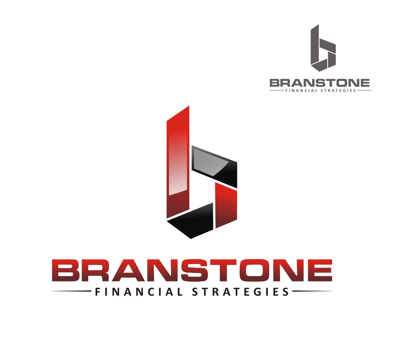 Logo Design by Reivan Ferdinan - Entry No. 300 in the Logo Design Contest Inspiring Logo Design for Branstone Financial Strategies.