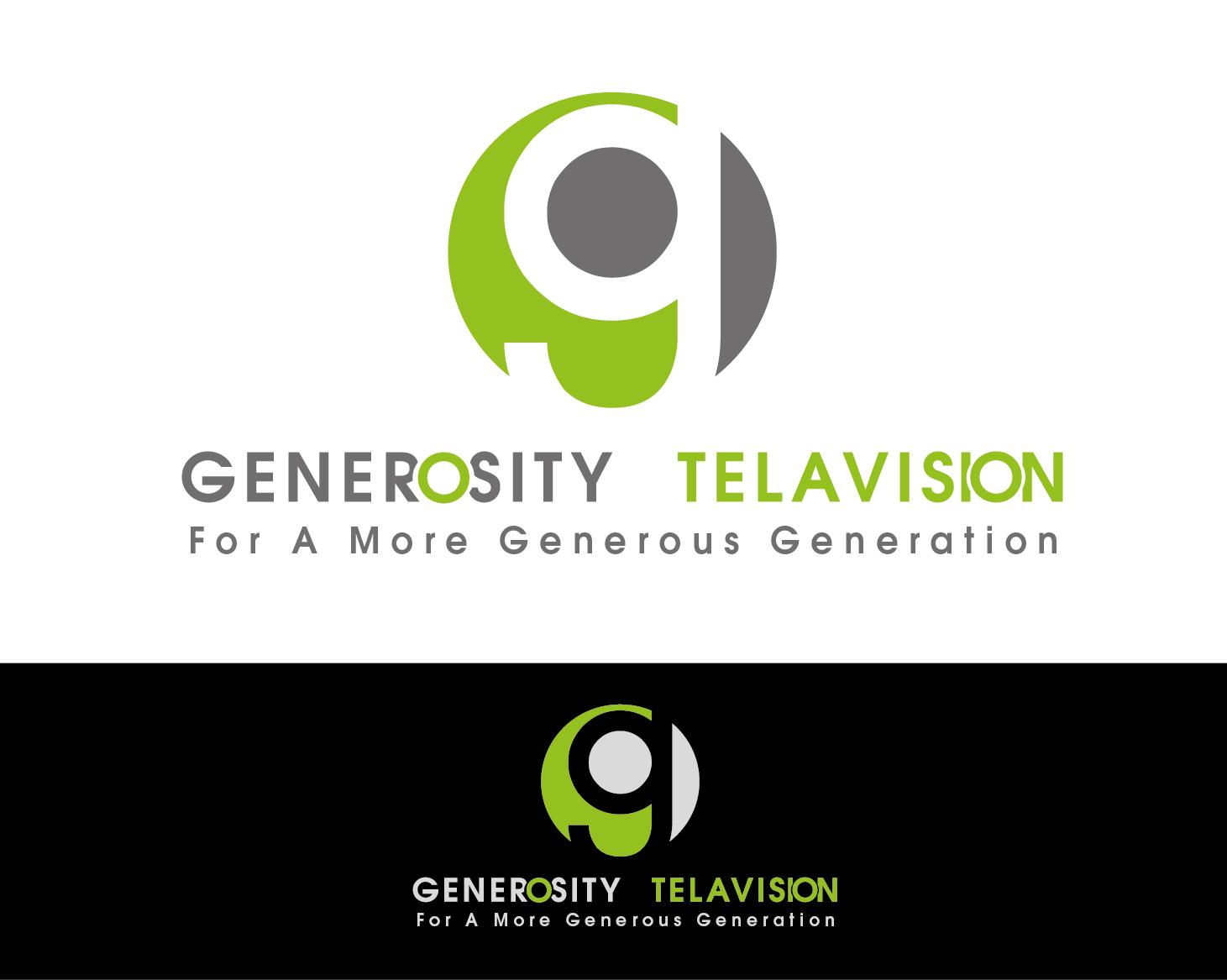 Logo Design by VENTSISLAV KOVACHEV - Entry No. 12 in the Logo Design Contest Artistic Logo Design for Generosity TellAVision.