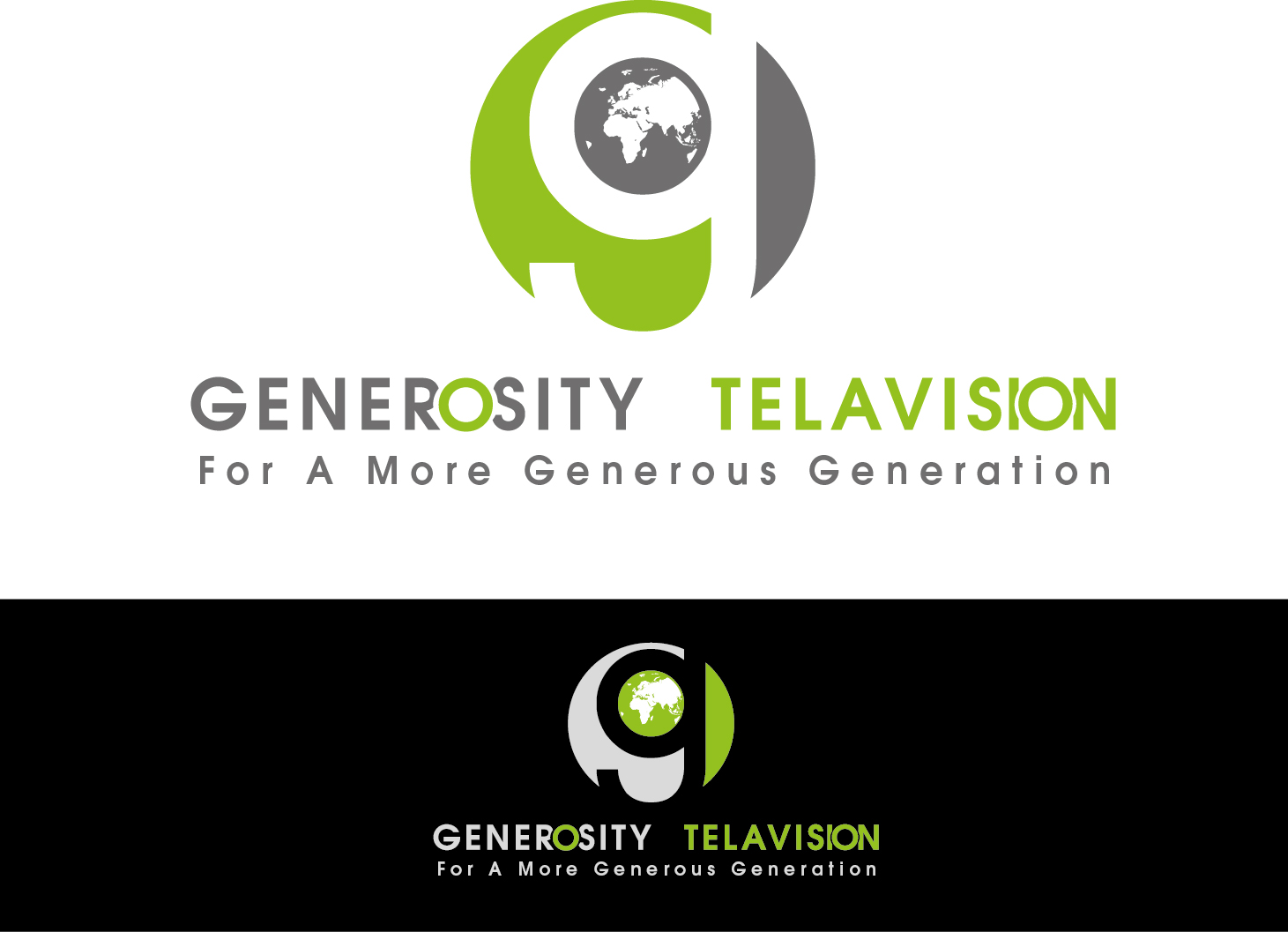 Logo Design by VENTSISLAV KOVACHEV - Entry No. 13 in the Logo Design Contest Artistic Logo Design for Generosity TellAVision.