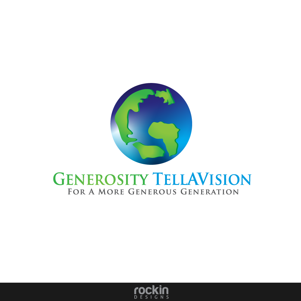 Logo Design by rockin - Entry No. 15 in the Logo Design Contest Artistic Logo Design for Generosity TellAVision.