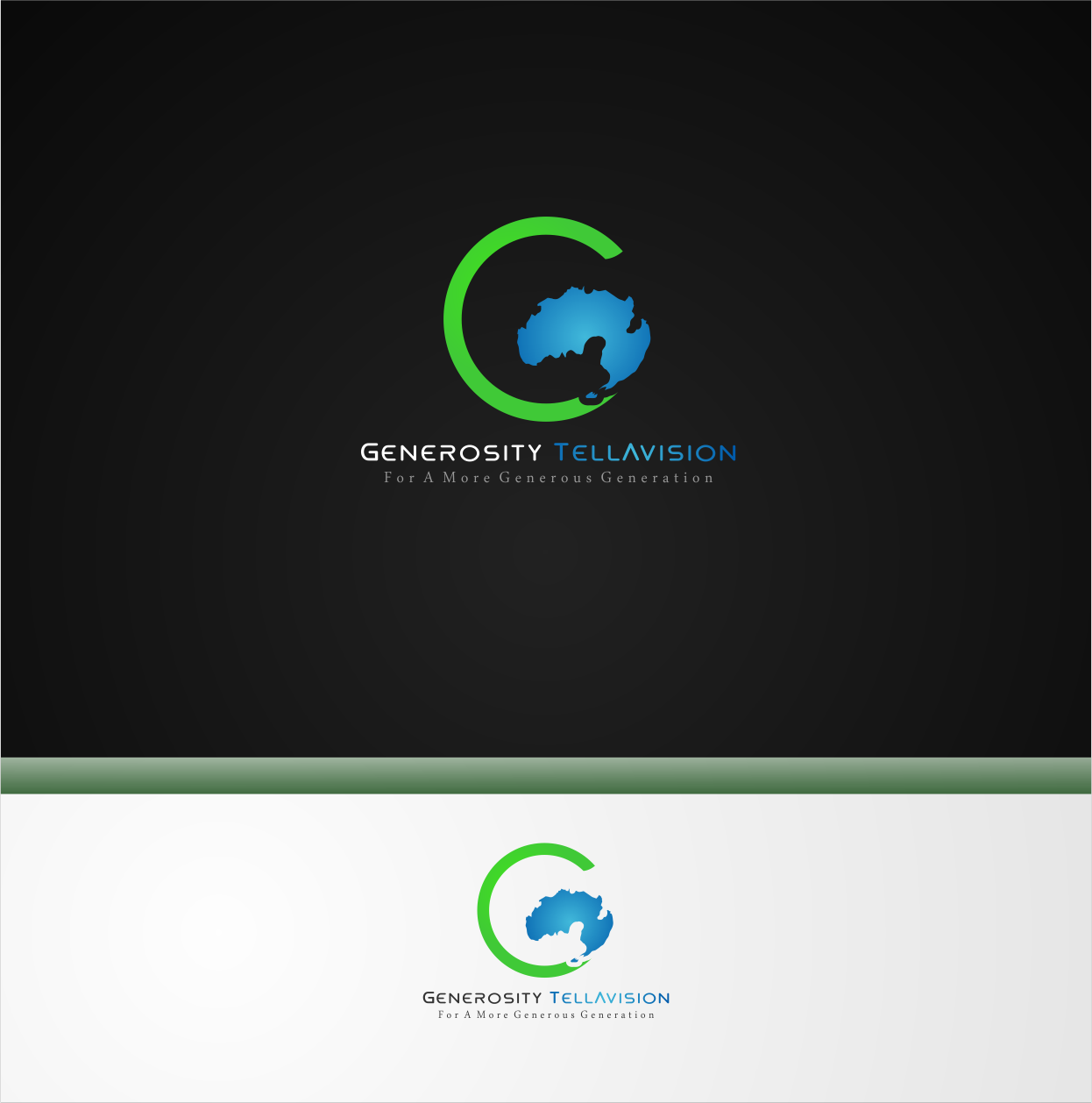 Logo Design by Private User - Entry No. 17 in the Logo Design Contest Artistic Logo Design for Generosity TellAVision.