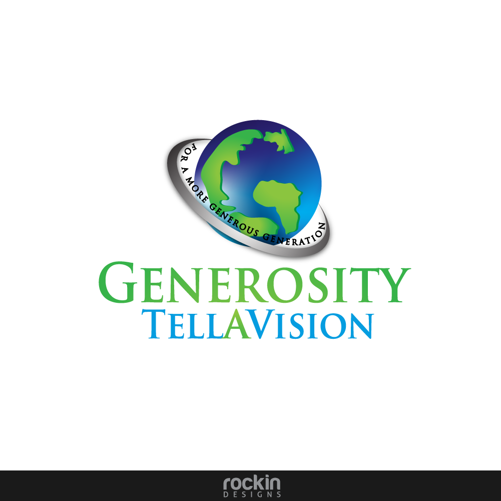Logo Design by rockin - Entry No. 18 in the Logo Design Contest Artistic Logo Design for Generosity TellAVision.