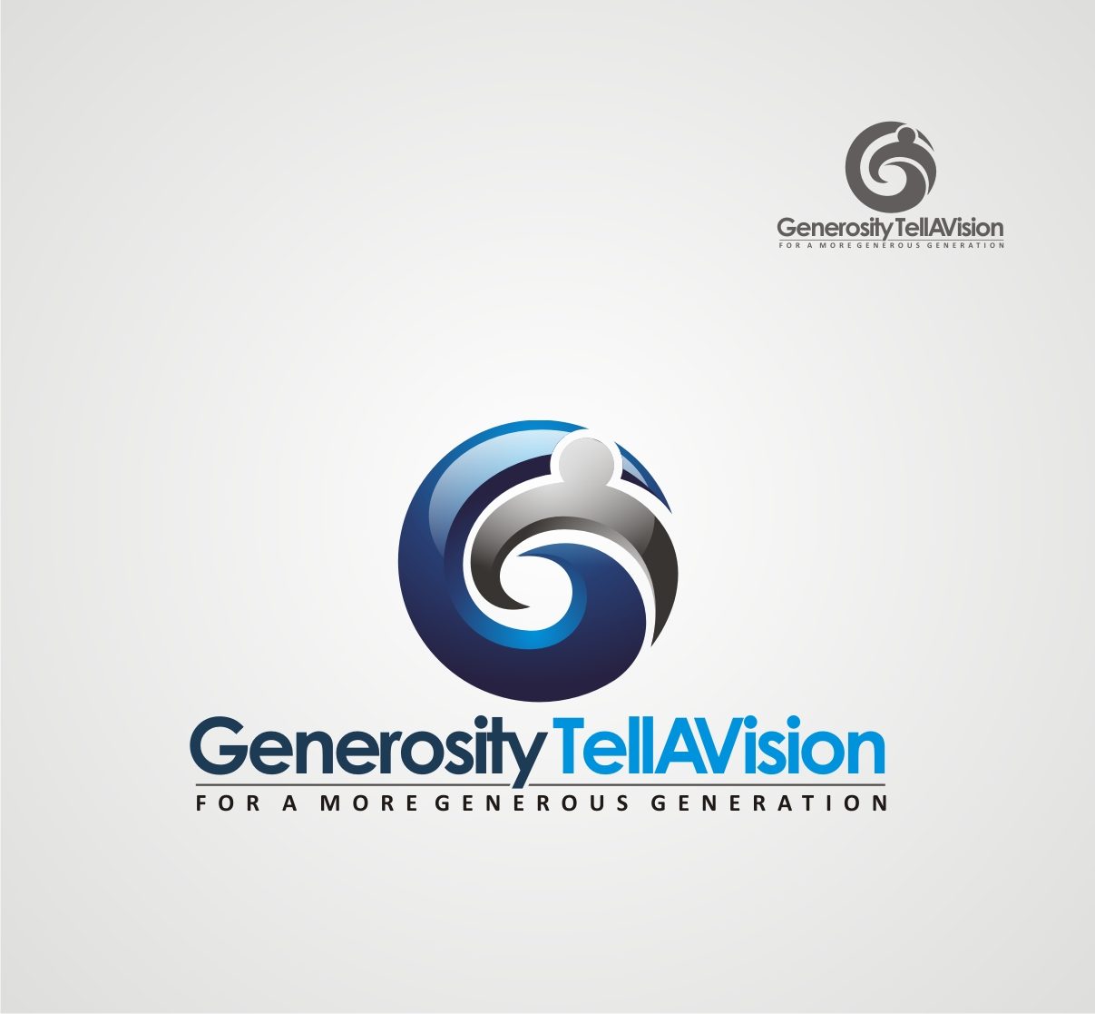 Logo Design by Reivan Ferdinan - Entry No. 25 in the Logo Design Contest Artistic Logo Design for Generosity TellAVision.