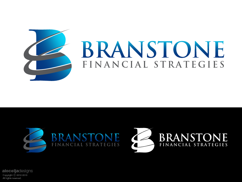 Logo Design by alocelja - Entry No. 350 in the Logo Design Contest Inspiring Logo Design for Branstone Financial Strategies.