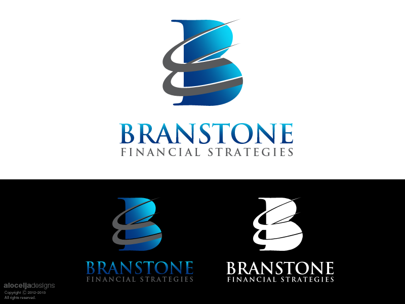 Logo Design by alocelja - Entry No. 351 in the Logo Design Contest Inspiring Logo Design for Branstone Financial Strategies.