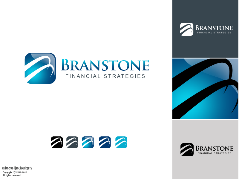 Logo Design by alocelja - Entry No. 357 in the Logo Design Contest Inspiring Logo Design for Branstone Financial Strategies.