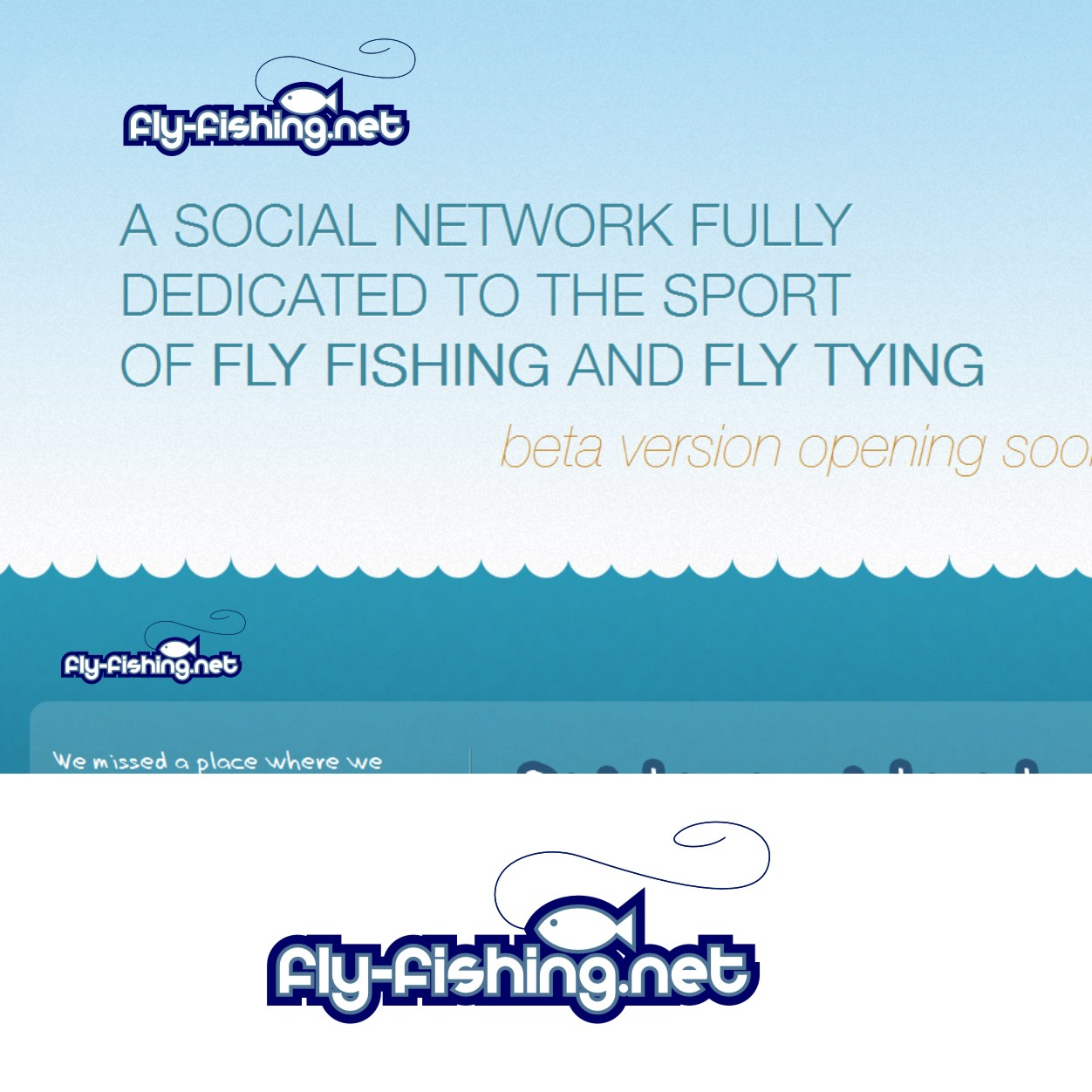 Logo Design by Private User - Entry No. 20 in the Logo Design Contest Artistic Logo Design for fly-fishing.net.