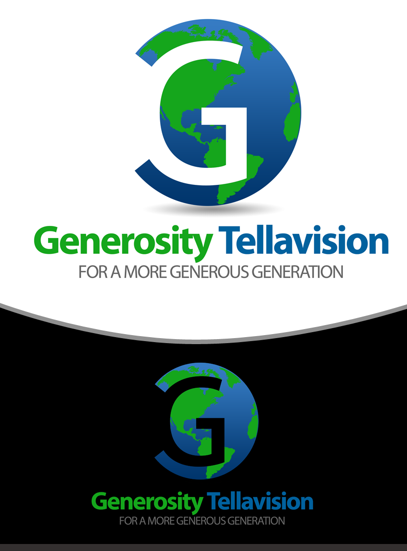 Logo Design by Robert Turla - Entry No. 35 in the Logo Design Contest Artistic Logo Design for Generosity TellAVision.