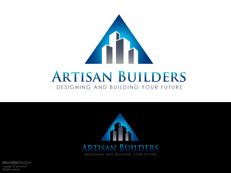 Logo Design by alocelja - Entry No. 138 in the Logo Design Contest Captivating Logo Design for Artisan Builders.
