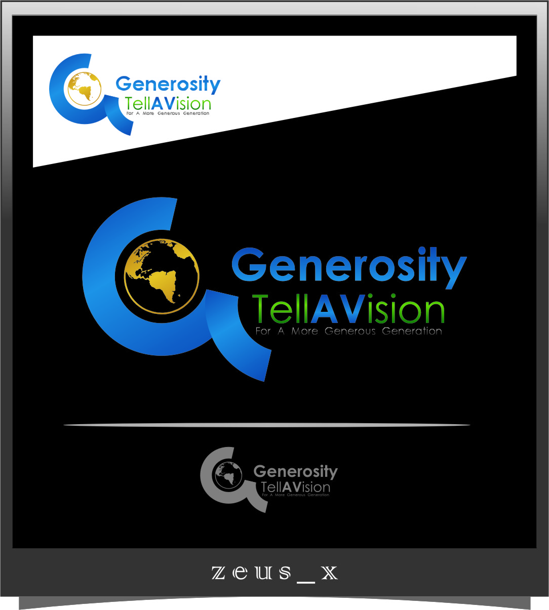 Logo Design by RasYa Muhammad Athaya - Entry No. 37 in the Logo Design Contest Artistic Logo Design for Generosity TellAVision.