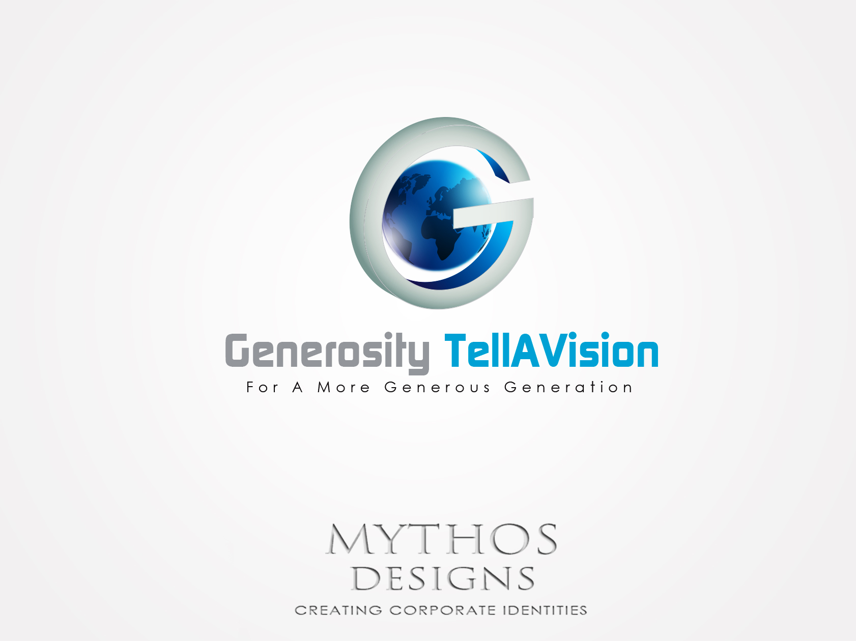 Logo Design by Mythos Designs - Entry No. 42 in the Logo Design Contest Artistic Logo Design for Generosity TellAVision.