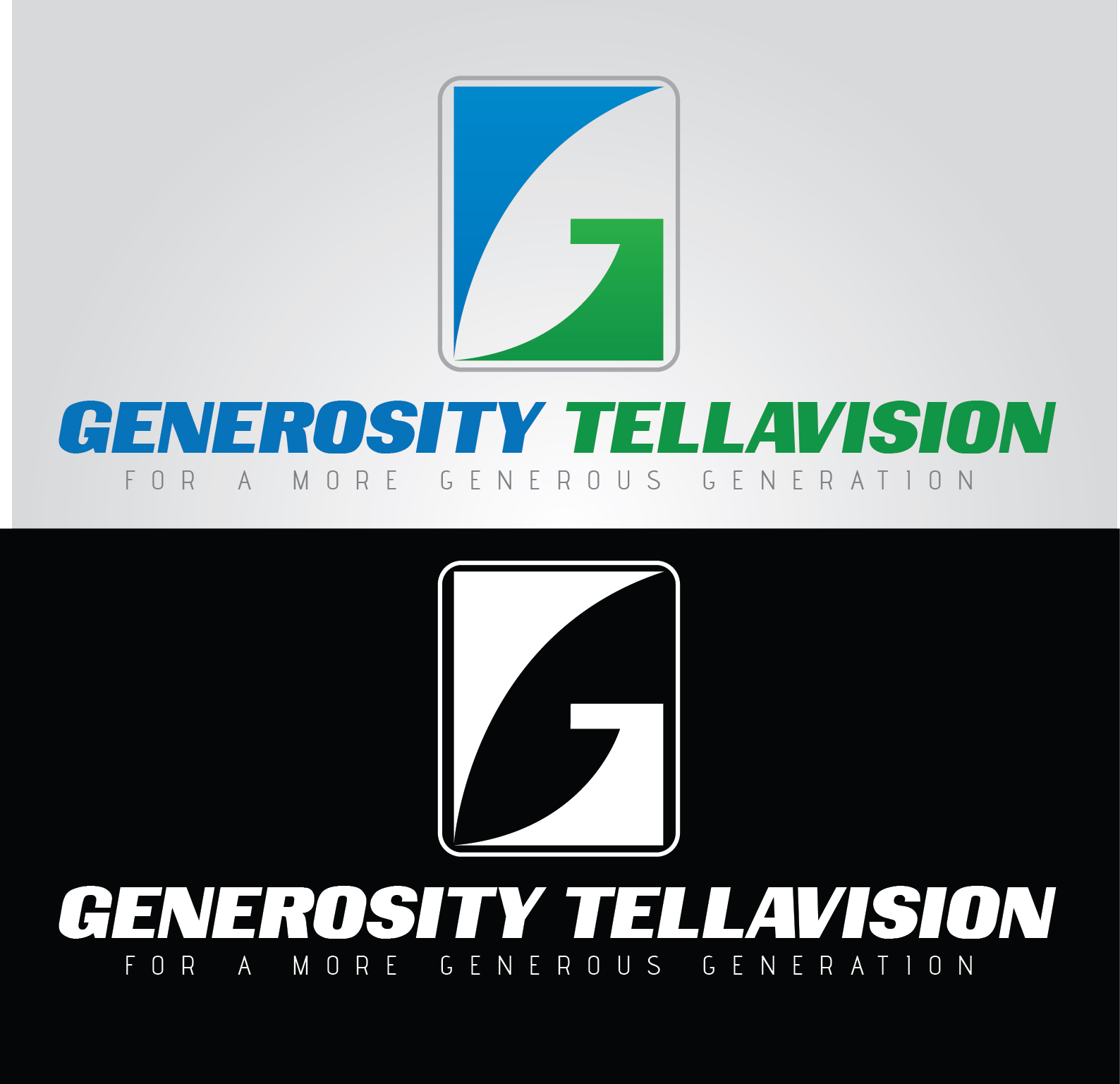 Logo Design by mediaproductionart - Entry No. 43 in the Logo Design Contest Artistic Logo Design for Generosity TellAVision.