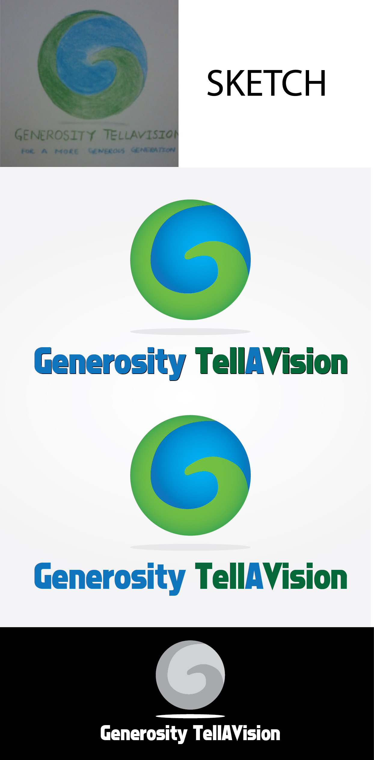 Logo Design by mediaproductionart - Entry No. 44 in the Logo Design Contest Artistic Logo Design for Generosity TellAVision.