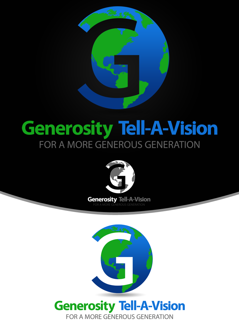 Logo Design by Private User - Entry No. 47 in the Logo Design Contest Artistic Logo Design for Generosity TellAVision.