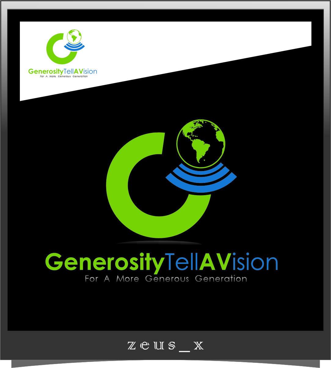 Logo Design by RoSyid Rono-Rene On Java - Entry No. 50 in the Logo Design Contest Artistic Logo Design for Generosity TellAVision.