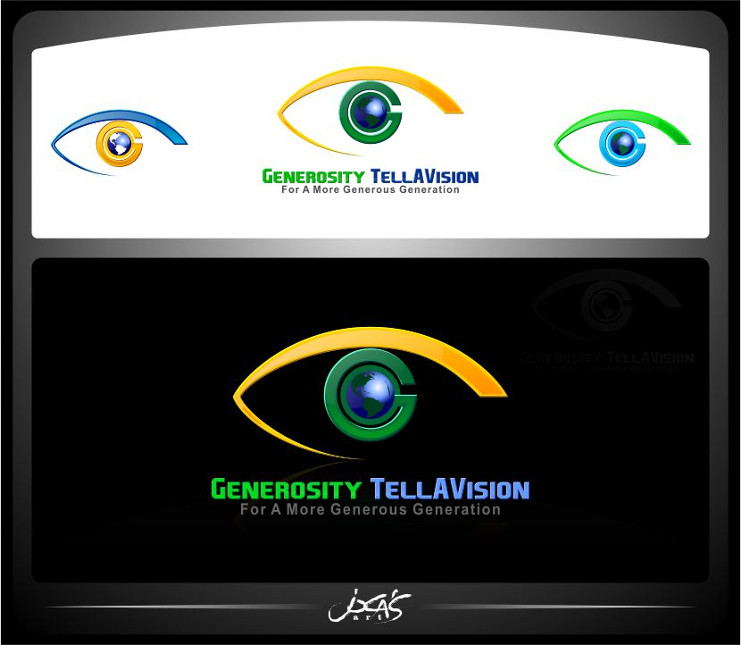Logo Design by joca - Entry No. 52 in the Logo Design Contest Artistic Logo Design for Generosity TellAVision.