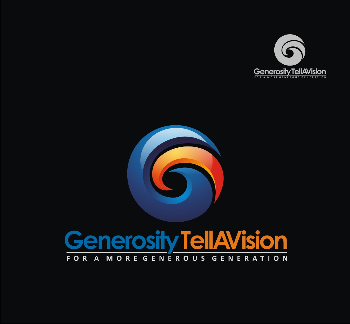 Logo Design by Reivan Ferdinan - Entry No. 57 in the Logo Design Contest Artistic Logo Design for Generosity TellAVision.