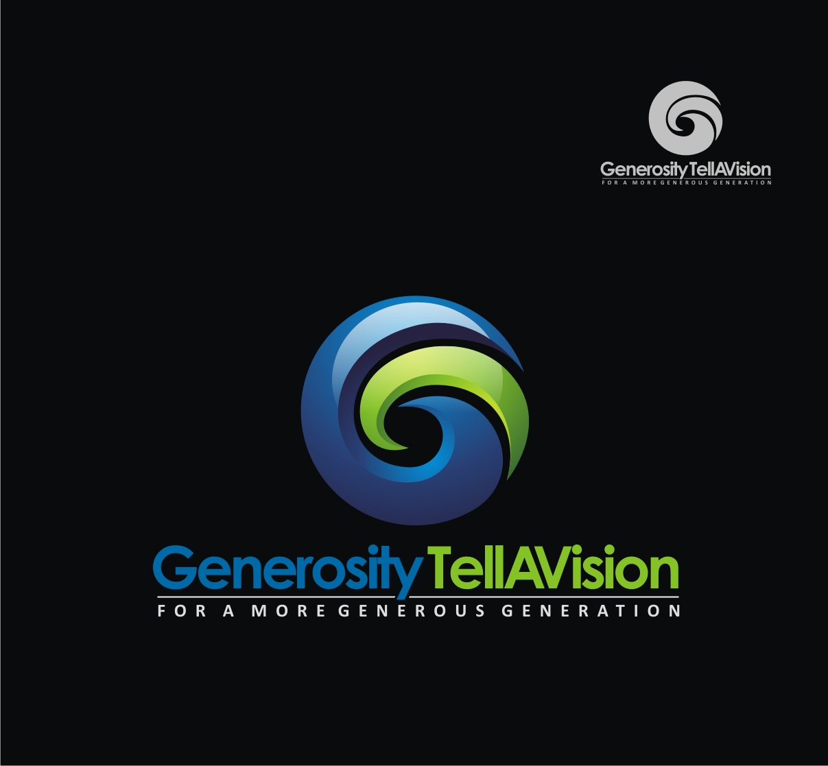 Logo Design by Reivan Ferdinan - Entry No. 58 in the Logo Design Contest Artistic Logo Design for Generosity TellAVision.
