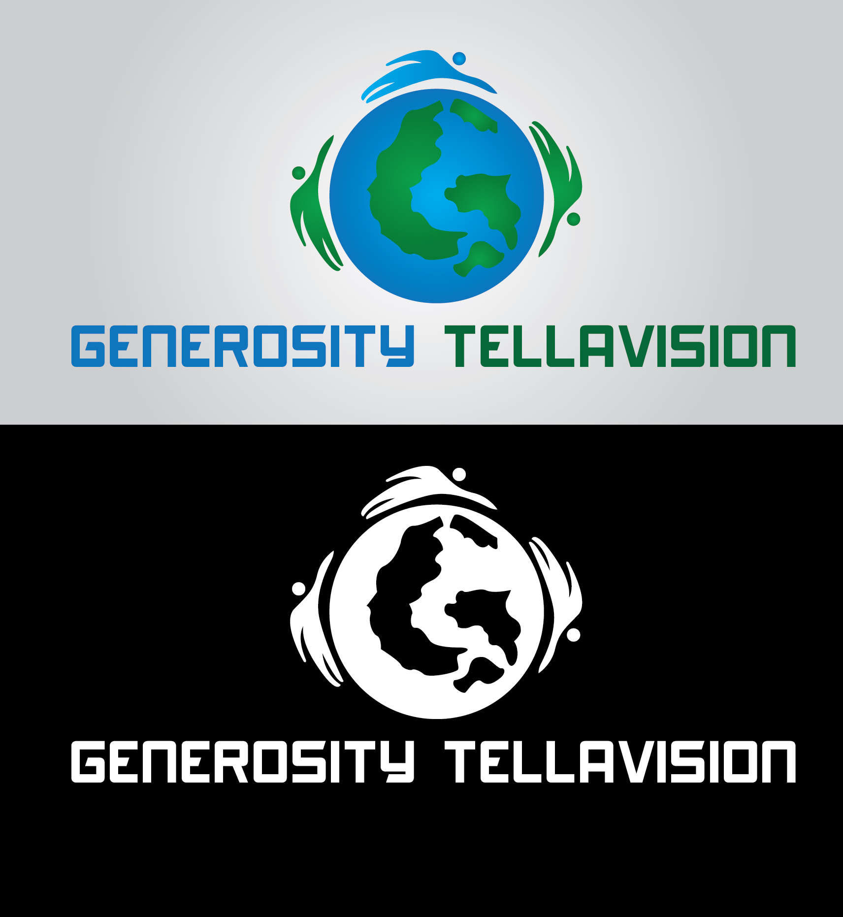 Logo Design by mediaproductionart - Entry No. 59 in the Logo Design Contest Artistic Logo Design for Generosity TellAVision.