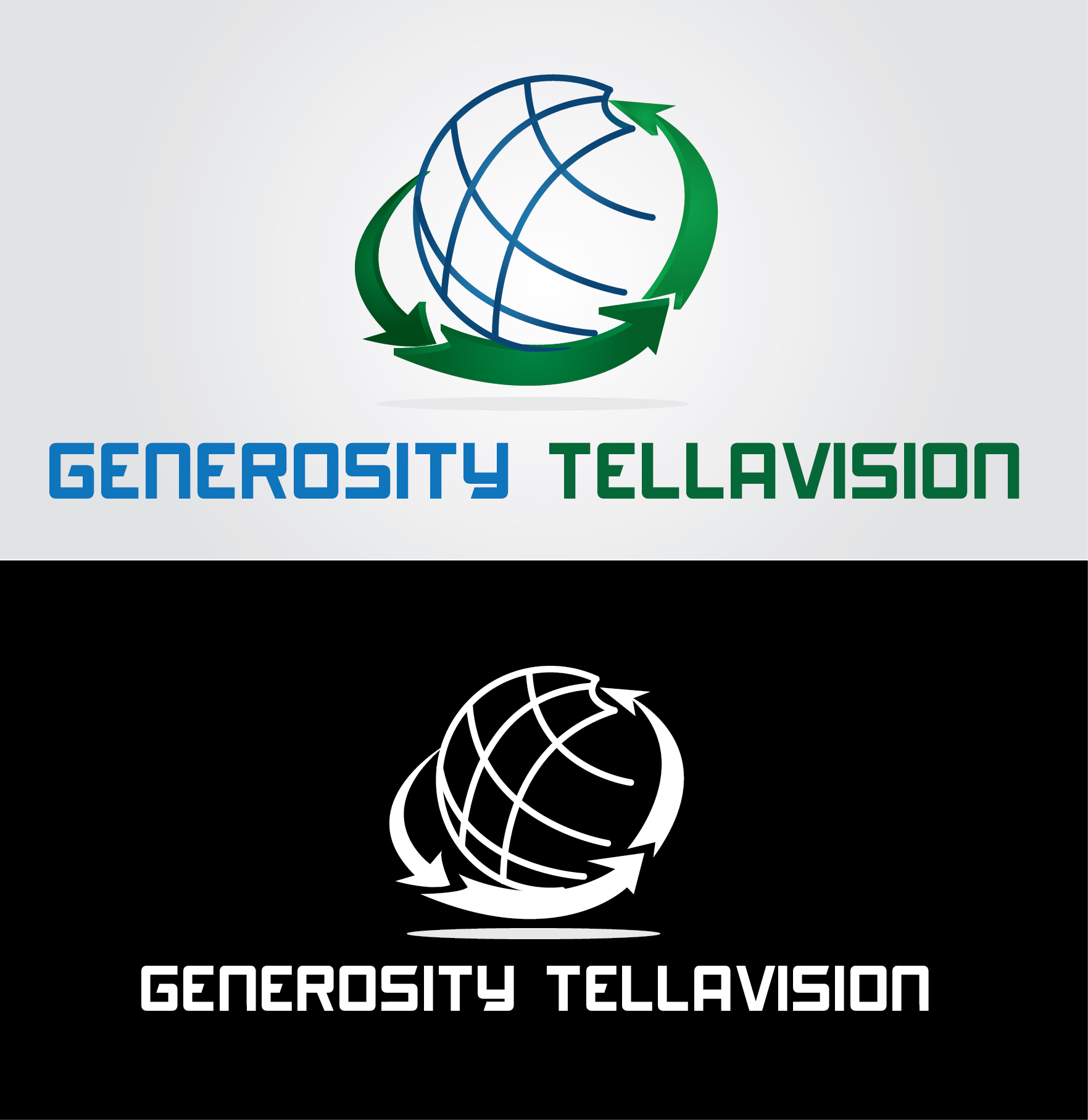 Logo Design by mediaproductionart - Entry No. 60 in the Logo Design Contest Artistic Logo Design for Generosity TellAVision.